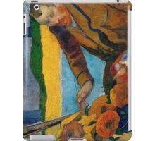 1888 - Gauguin -  Vincent van Gogh painting sunflowers iPad Case/Skin