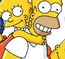 Happy simpson family Sticker