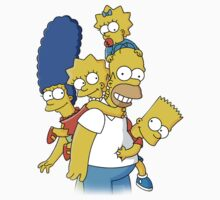 Happy simpson family Kids Tee