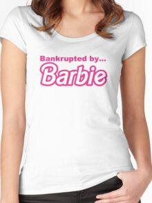 Bankrupted by... BARBIE Women's Fitted Scoop T-Shirt