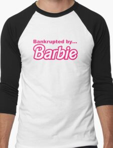 Bankrupted by... BARBIE Men's Baseball ¾ T-Shirt
