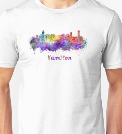 Hamilton skyline in watercolor Unisex T-Shirt