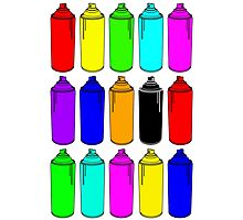 Spray Cans Photographic Print