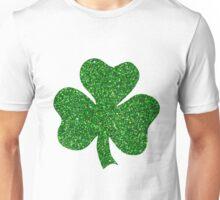 St. Patrick's Day Shamrock Green Glitter Unisex T-Shirt