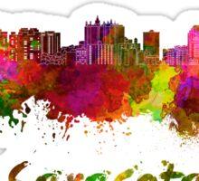 Sarasota skyline in watercolor Sticker
