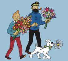 Tintin Haddock Snowy One Piece - Short Sleeve