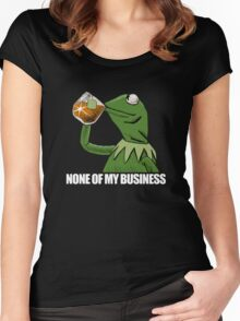 kermit meme rare Women's Fitted Scoop T-Shirt
