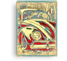 Vintage Seaside Bug Canvas Print