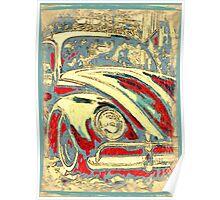 Vintage Seaside Bug Poster