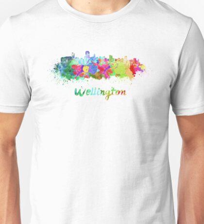 Wellington skyline in watercolor Unisex T-Shirt
