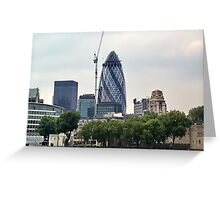 London Gherkin Greeting Card