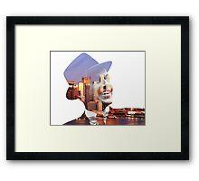Frank Sinatra New York  Framed Print