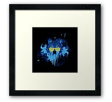 THE DUDE WOLF Framed Print