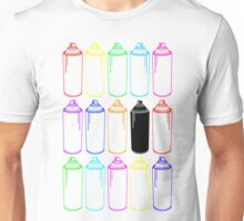 Spray Cans Neon Unisex T-Shirt