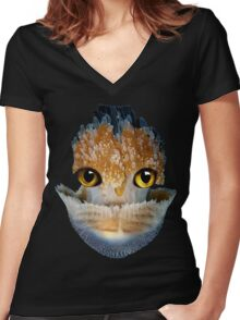 GALANTIS SEAFOX WATER Women's Fitted V-Neck T-Shirt