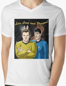 Star Trek - Kirk & Spock Mens V-Neck T-Shirt