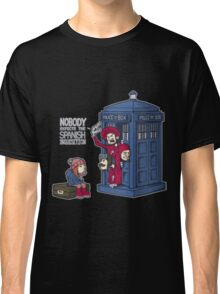 Police Box Nobody Spanish Inquisition Classic T-Shirt