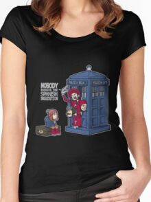 Police Box Nobody Spanish Inquisition Women's Fitted Scoop T-Shirt
