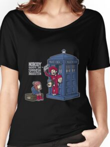 Police Box Nobody Spanish Inquisition Women's Relaxed Fit T-Shirt