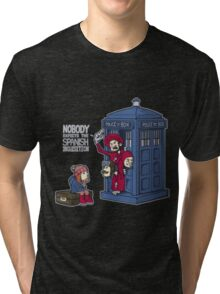 Police Box Nobody Spanish Inquisition Tri-blend T-Shirt