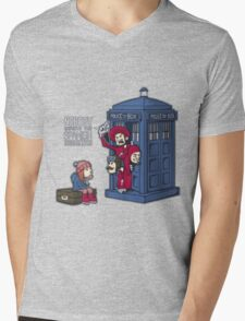 Police Box Nobody Spanish Inquisition Mens V-Neck T-Shirt