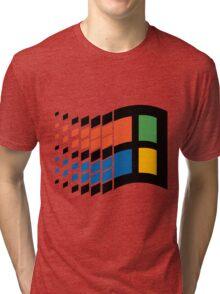 Vintage windows logo Tri-blend T-Shirt
