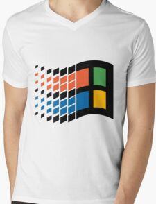 Vintage windows logo Mens V-Neck T-Shirt