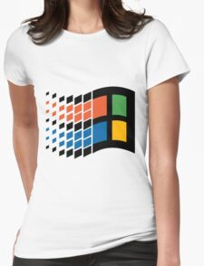 Vintage windows logo Womens Fitted T-Shirt