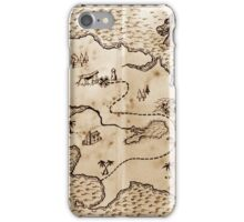 Pirate treasure map iPhone Case/Skin