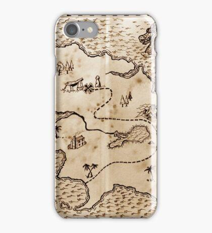 Pirate treasure map iPhone Case/Skin