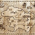 Pirate treasure map by Paul Fleet