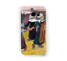 1888 - Gauguin - Breton Girls Dancing, Pont-Aven Samsung Galaxy Case/Skin