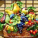 Fruit basket in the sun by Arie Koene