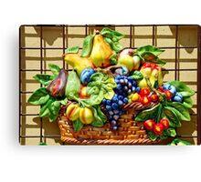 Fruit basket in the sun Canvas Print