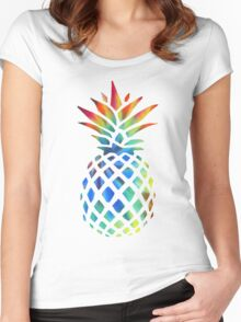 Hippy Pineapple - ONE:Print Women's Fitted Scoop T-Shirt