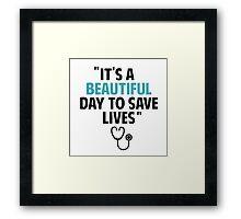 Grey's Anatomy - Slogan Framed Print