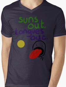 Sun's out, Tongues out Mens V-Neck T-Shirt