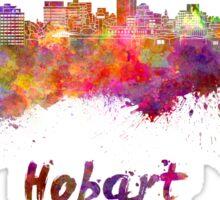Hobart skyline in watercolor Sticker