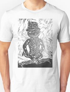 Frog Lino Cut In Black and White  Unisex T-Shirt