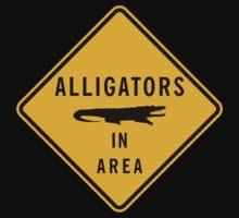 Alligators in Area, Road Sign, Florida, USA Kids Tee