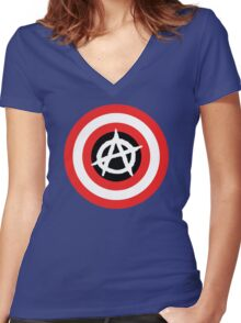 Captain Anarchy! Women's Fitted V-Neck T-Shirt