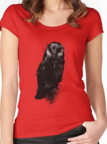 The Owl Women's Fitted Scoop T-Shirt