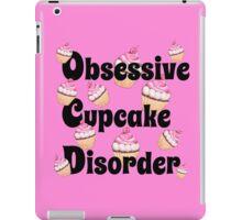 Cute Pink Obsessive Cupcake Disorder iPad Case/Skin