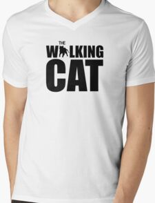 The Walking Cat Mens V-Neck T-Shirt