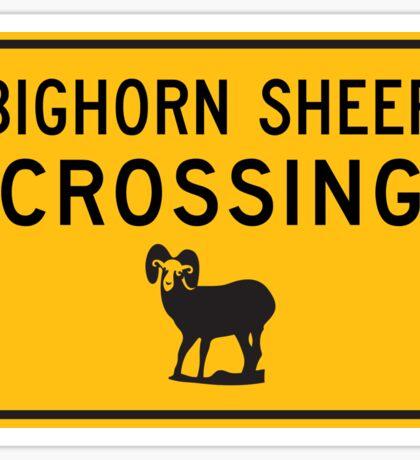 Bighorn Sheep Crossing, Road Sign, Washington, USA Sticker