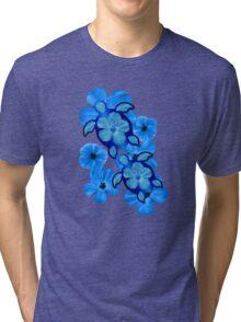 Blue Hawaiian Honu Turtles Tri-blend T-Shirt