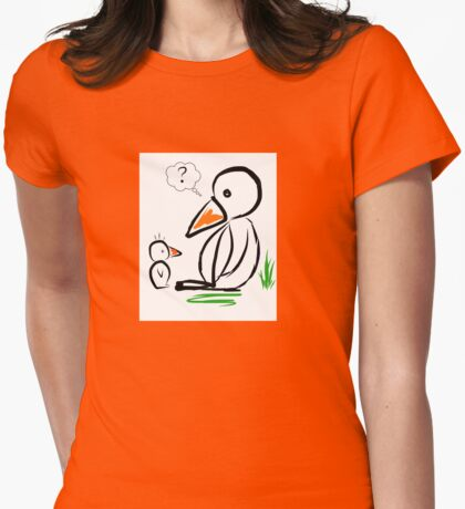 Penguin baby Womens Fitted T-Shirt