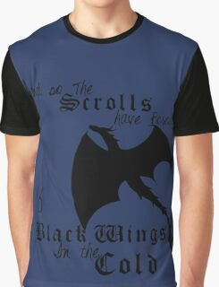 Black Wings In The Cold Graphic T-Shirt