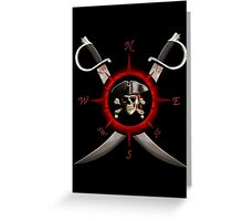 Pirate Compass Greeting Card