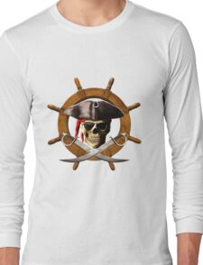 Pirate Wheel Long Sleeve T-Shirt